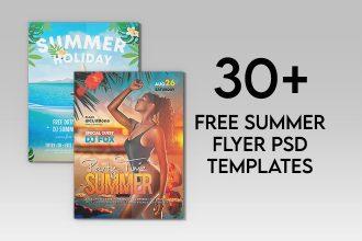 30+ Best Free Summer Flyer PSD Templates 2021