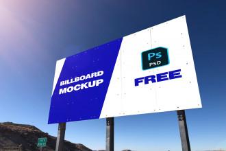 Free Billboard Mockup PSD Template