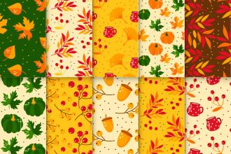 Free Autumn Patterns Set