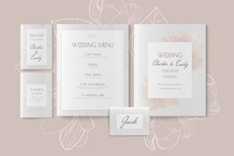 Free Rustic Wedding Template Set in PSD