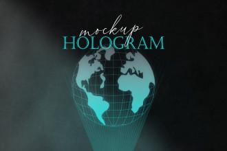 Free Hologram Mockup PSD Template