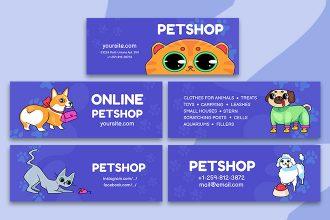 Free Petshop Facebook Cover Templates in PSD