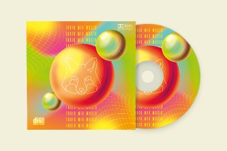 Free CD Cover Toxic Mix Music PSD Template