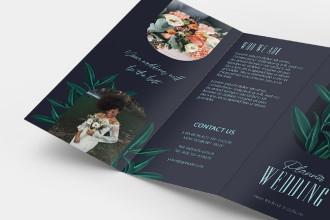 Free Wedding Planner Tri-Fold Brochure Template