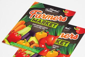Free Farmers Market Flyer PSD Template