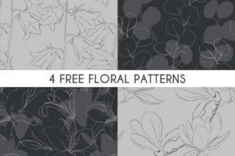 Free Floral Pattern Set
