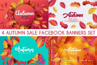 Free Autumn Sale Facebook Banners Set