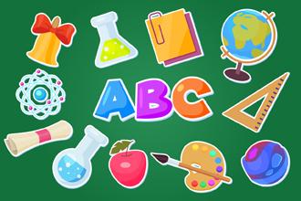 Free School Themed Sticker Set