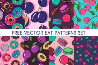 Free Food Patterns Set