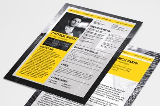Free Resume and Cover Letter PSD Template