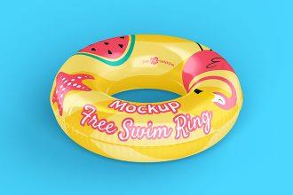 Free Swim Ring Mockup
