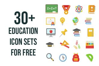 30 Free Education Icon Sets