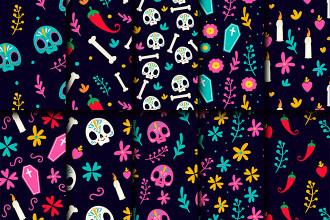 Free Dia De Los Muertos Patterns Set