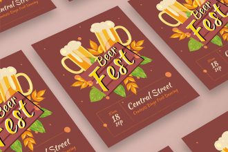 Free Beer Festival Poster PSD Template
