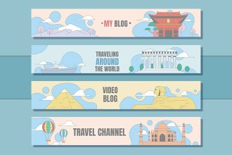 Free Travel Channel Youtube Banners Set