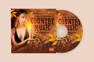 Free Country Music CD Cover PSD Template