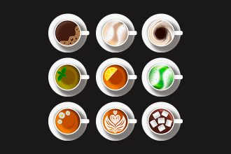 Free Cups Illustrations in PSD and PNG