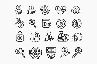 Free Crypto Currency / Investment Icons Set