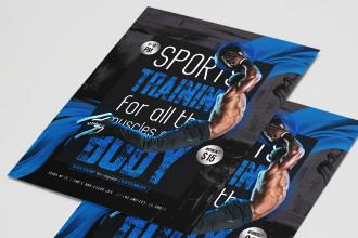 Free Sport Flyer PSD Template