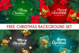 Free Christmas Background Set