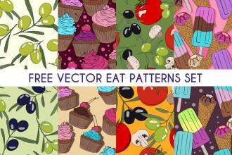 Free Vector Eat Pattern Set