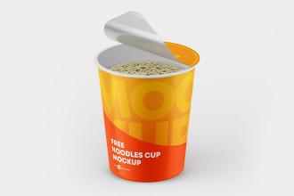 Free Noodles Cup Mockup