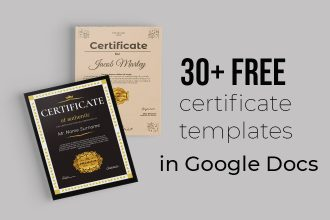 30 Awesome Free Certificate Templates in Google Docs