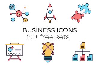 20 Free Business Icons