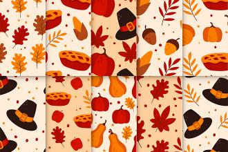 Free Thanksgiving Patterns Set