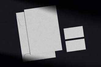 Free Branding & Stationery Mockup Dark Mode