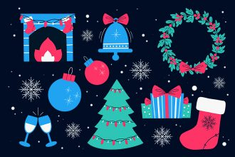 Free Christmas Illustrations Set