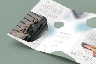 Free Business Tri-Fold Brochure PSD Template