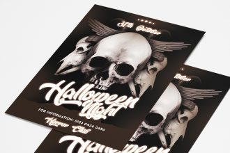 Free Halloween Party Flyer PSD Template