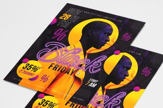 Free Black Friday Poster PSD Template