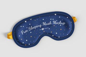 Free Sleeping Mask Mockup Set
