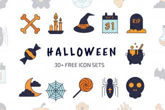 30+ Free Halloween Icon Sets